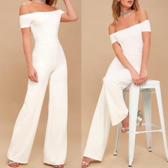967835b57 Lulu's Pants   Lulus White Pant Romper   Poshmark